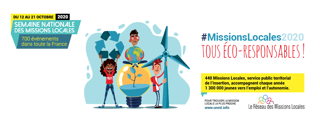 #TousEcoResponsables  -  Semaine nationale #MissionsLocales2020