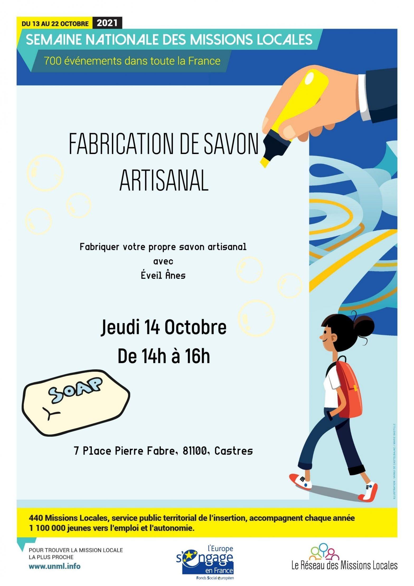 FABRICATION DE SAVON ARTISANAL  le 14 octobre à CASTRES