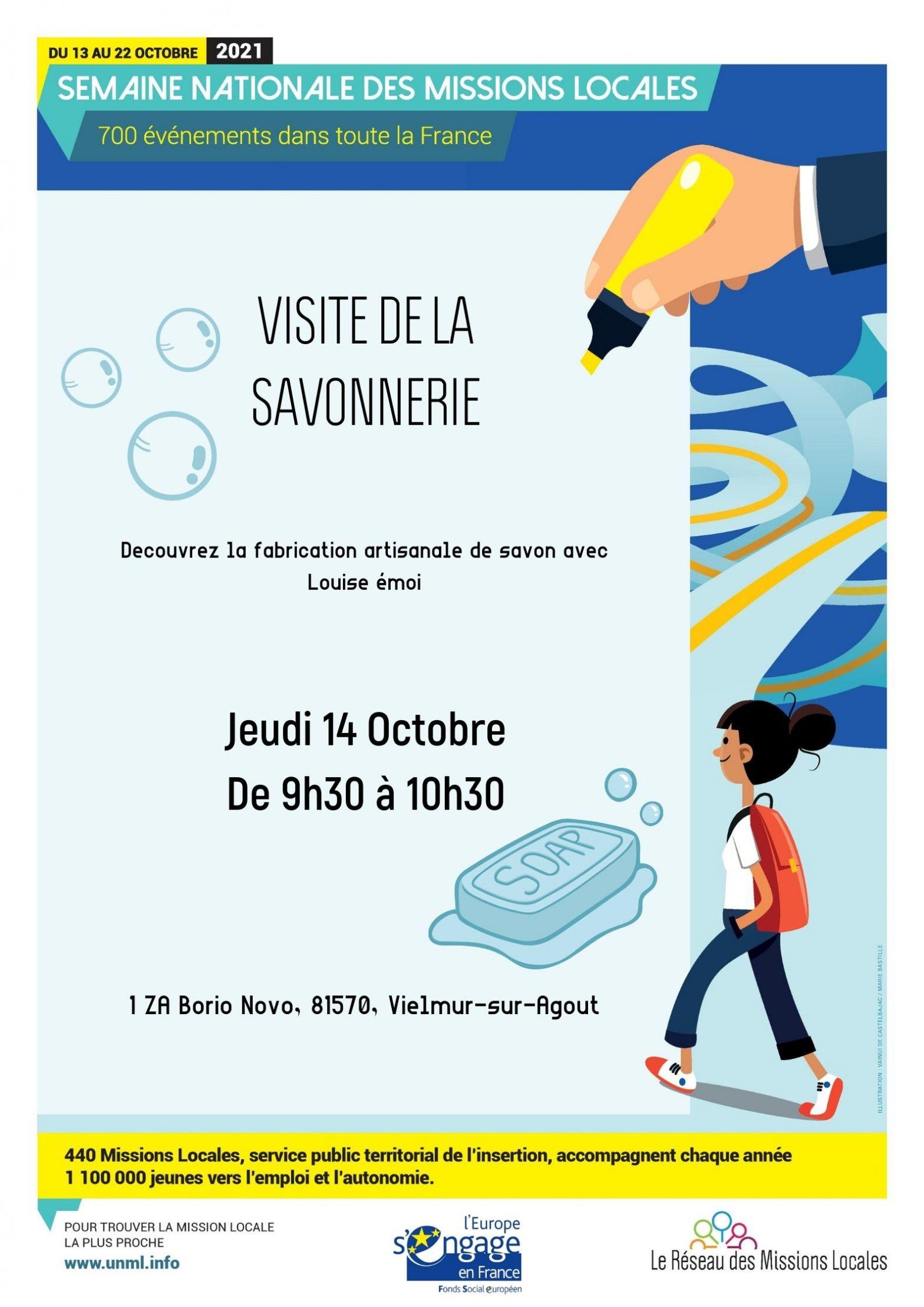 """VISITE DE LA SAVONNERIE ARTISANALE """"LOUISE ÉMOI""""  à Vielmur sur Agoût (81)."""
